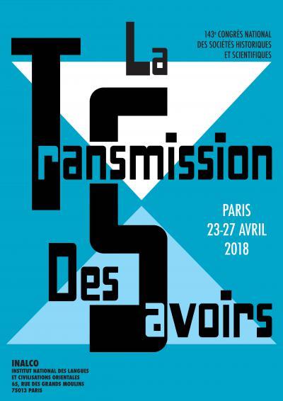 Affiche du congrès sur «La transmission des savoirs»