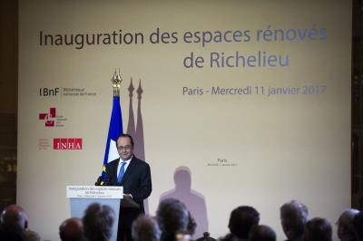 Discours du président de la République à l'issue de la visite des espaces rénovés de Richelieu